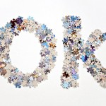 Word OK written using jigsaw puzzle pieces
