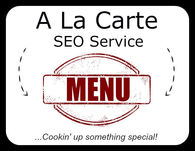 a la carte seo service menu